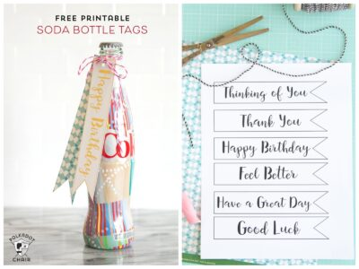 Free Printable Diet Coke Gift Tags; perfect for gifts for teachers - lots of cute gift ideas for friends or neighbors too. Love the Happy Birthday Tags!