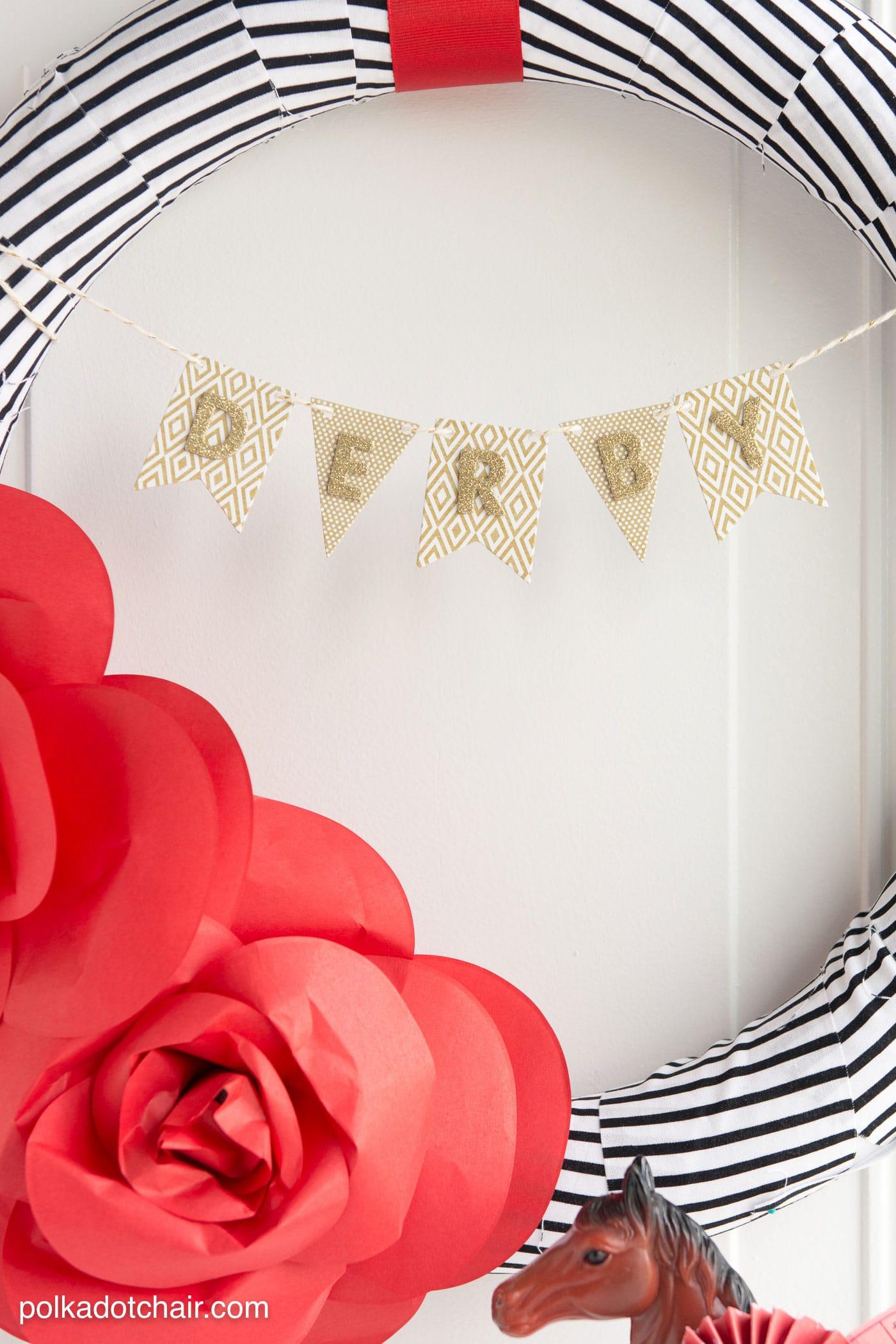 DIY Paper Flower Wreath Tutorial; a Kentucky Derby ...
