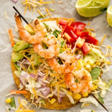 Grilled Shrimp Tostadas Recipe