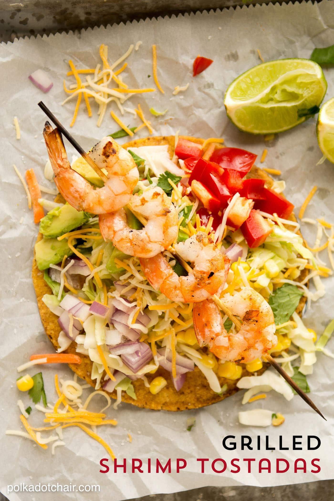 Grilled Shrimp Tostadas Recipe