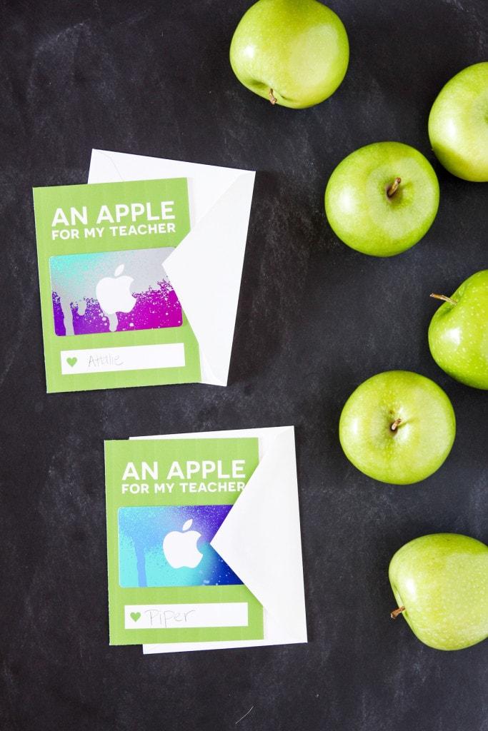 Free Apple iTunes Teacher Appreciation Printables - cute idea for Teacher Appreciation Week!