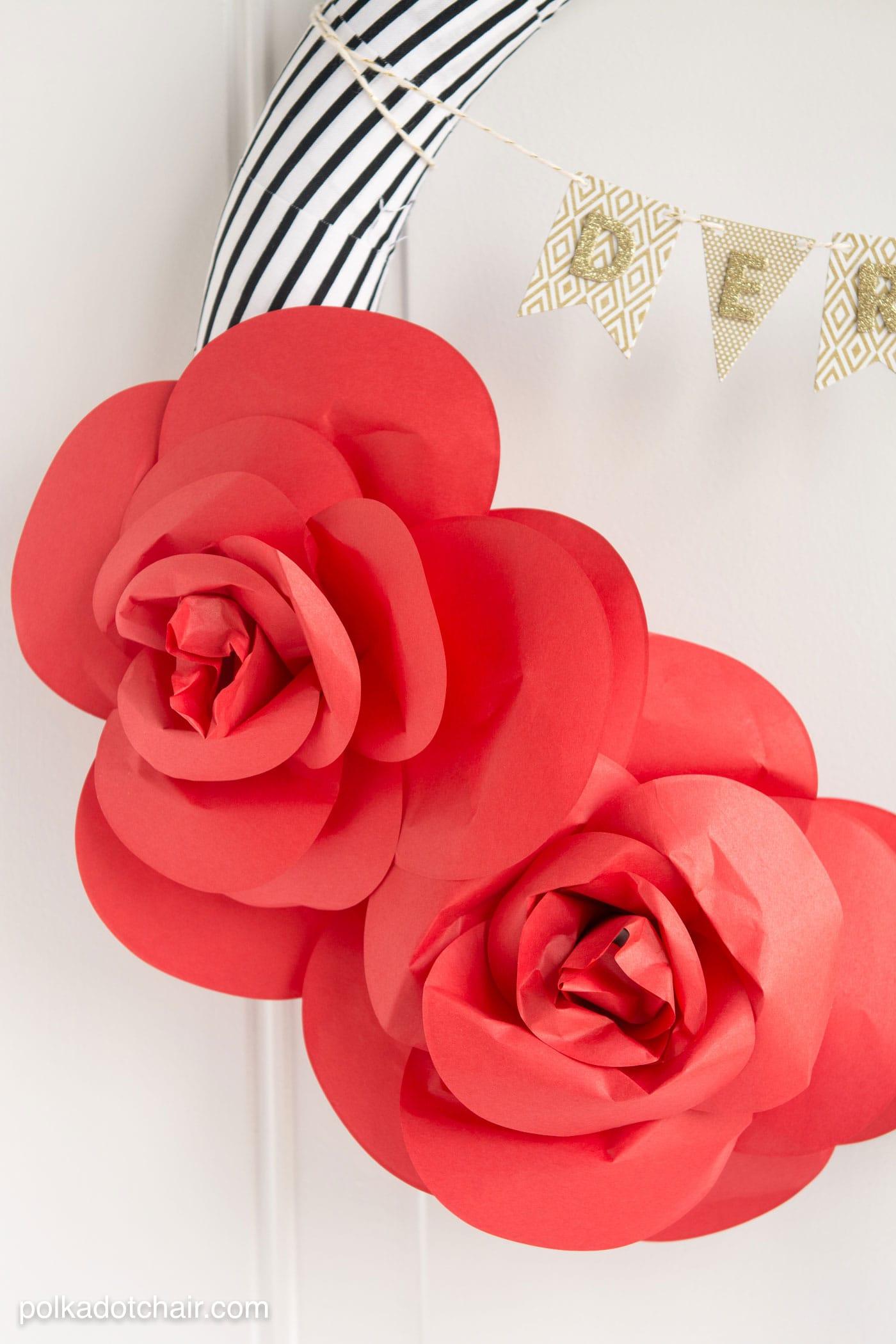 Diy Paper Flower Wreath Tutorial A Kentucky Derby Decoration Idea