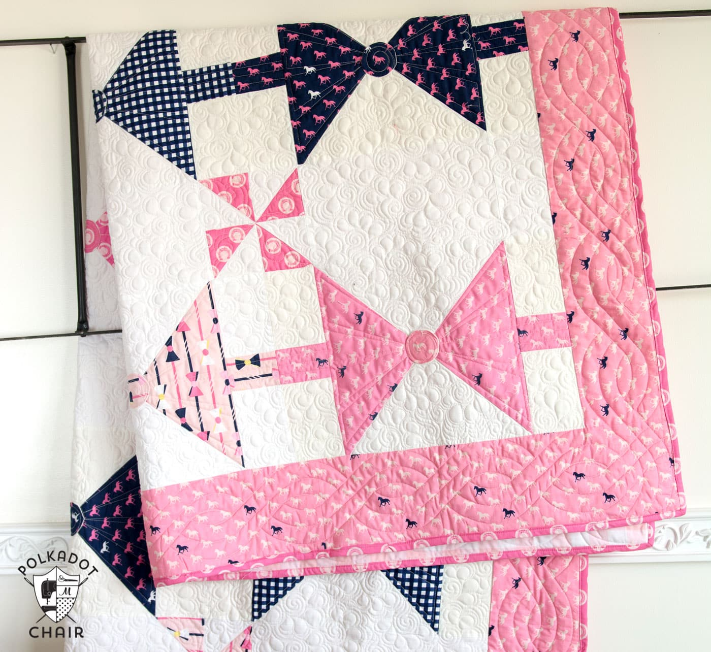 New Bow Tie Quilt Pattern The Polka Dot Chair