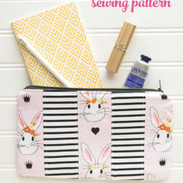 One Simple Zip Pouch Sewing Pattern 3 Ways