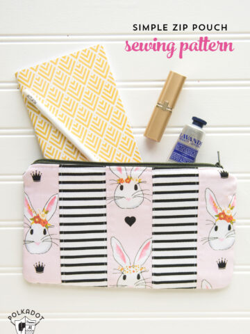Learn how to take one simple zip pouch sewing pattern and make a few changes to create 3 different variations! So cute!!