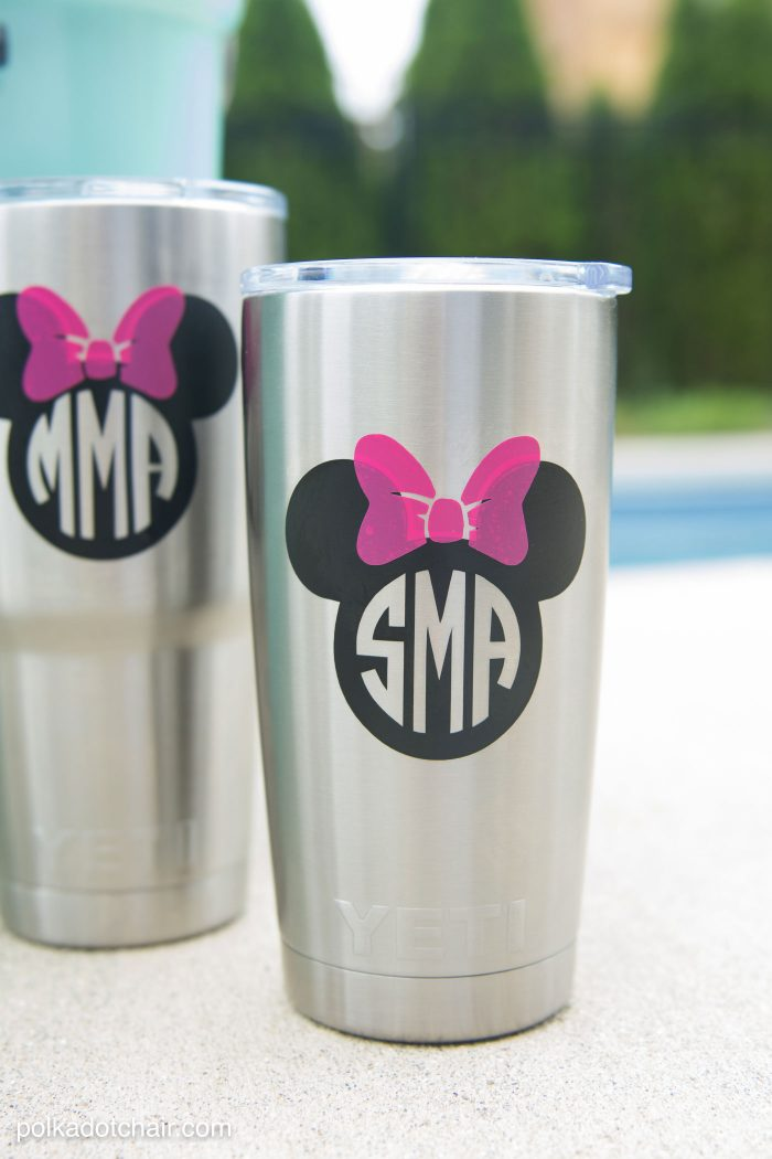 How to add a Disney Monogram to your Yeti (or other stainless steel) Tumbler. Includes lots of tips and instructions!