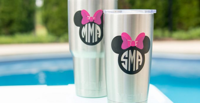 How to: DIY Disney Monogram for a Yeti Tumbler