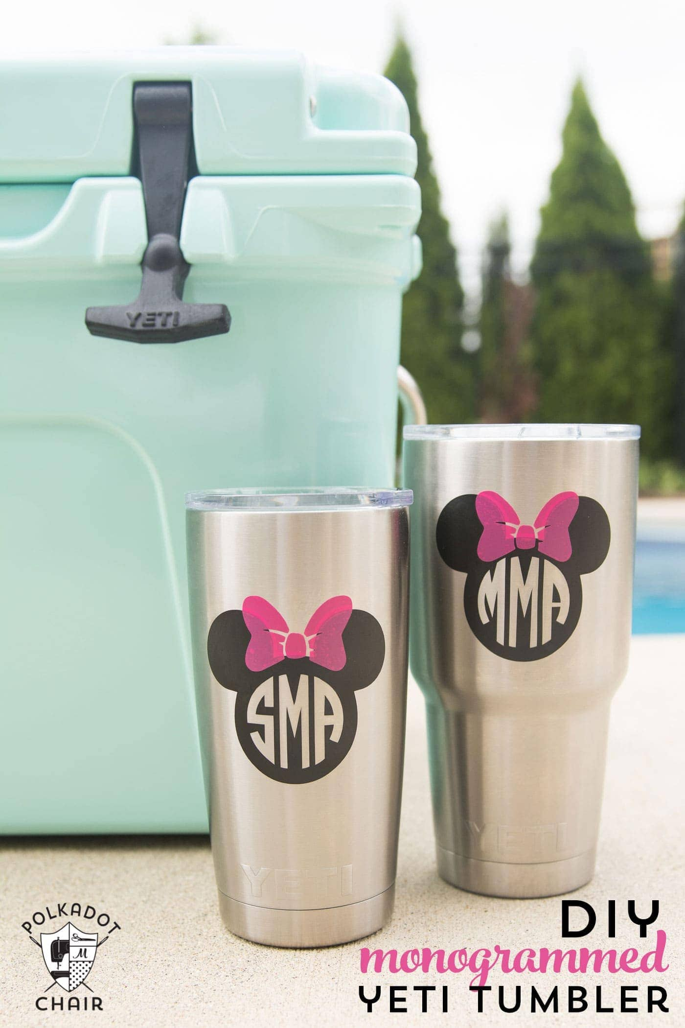 How To Diy Disney Monogram For A Yeti Tumbler The Polka
