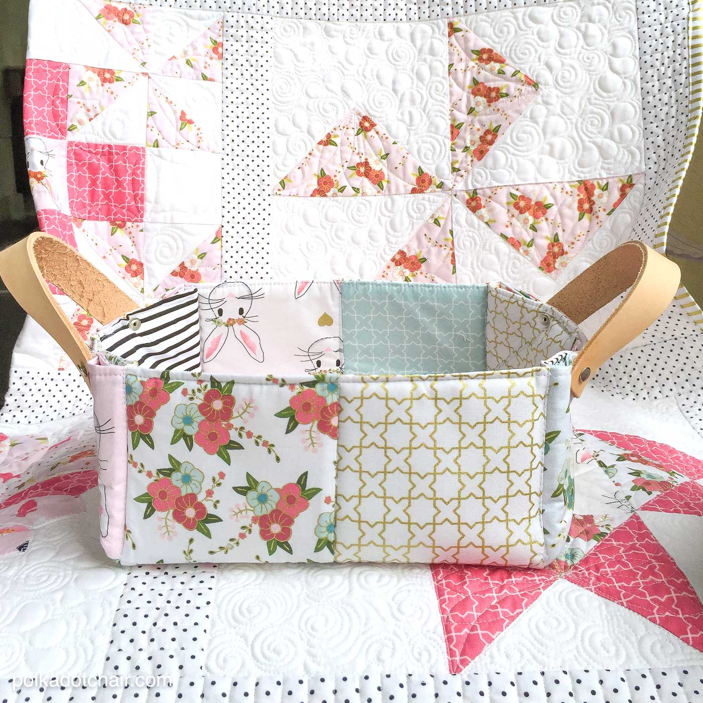 Colorful Patchwork Bags and Baskets Class on Craftsy