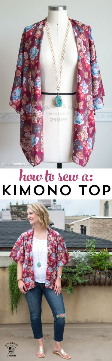 How To Sew A Kimono Top Or Jacket The Polka Dot Chair