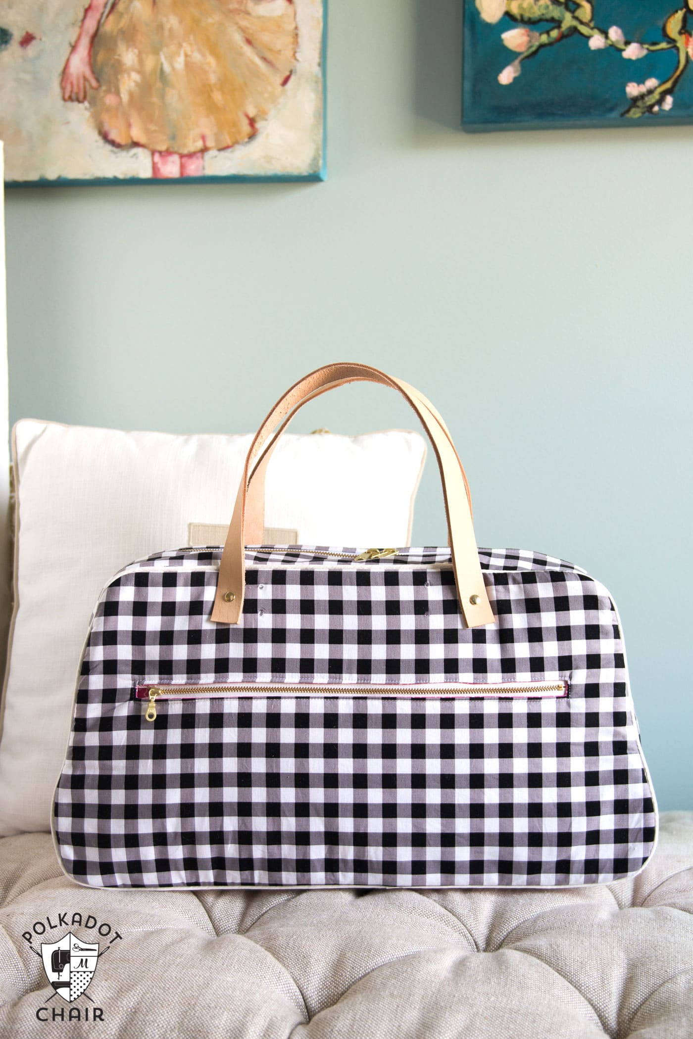 Refreshed Retro Travel Bag Sewing Pattern - The Polka Dot Chair