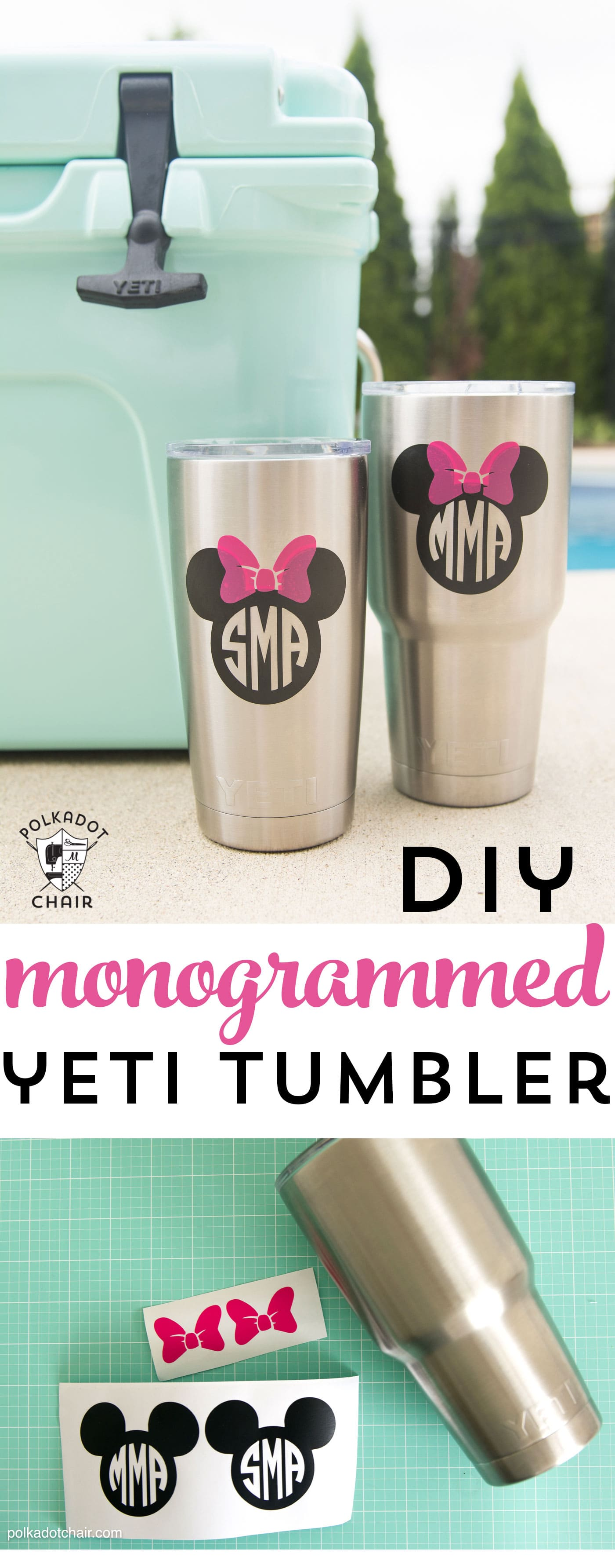How to diy disney monogram for a yeti tumbler page 2 of for Diy monogram gifts