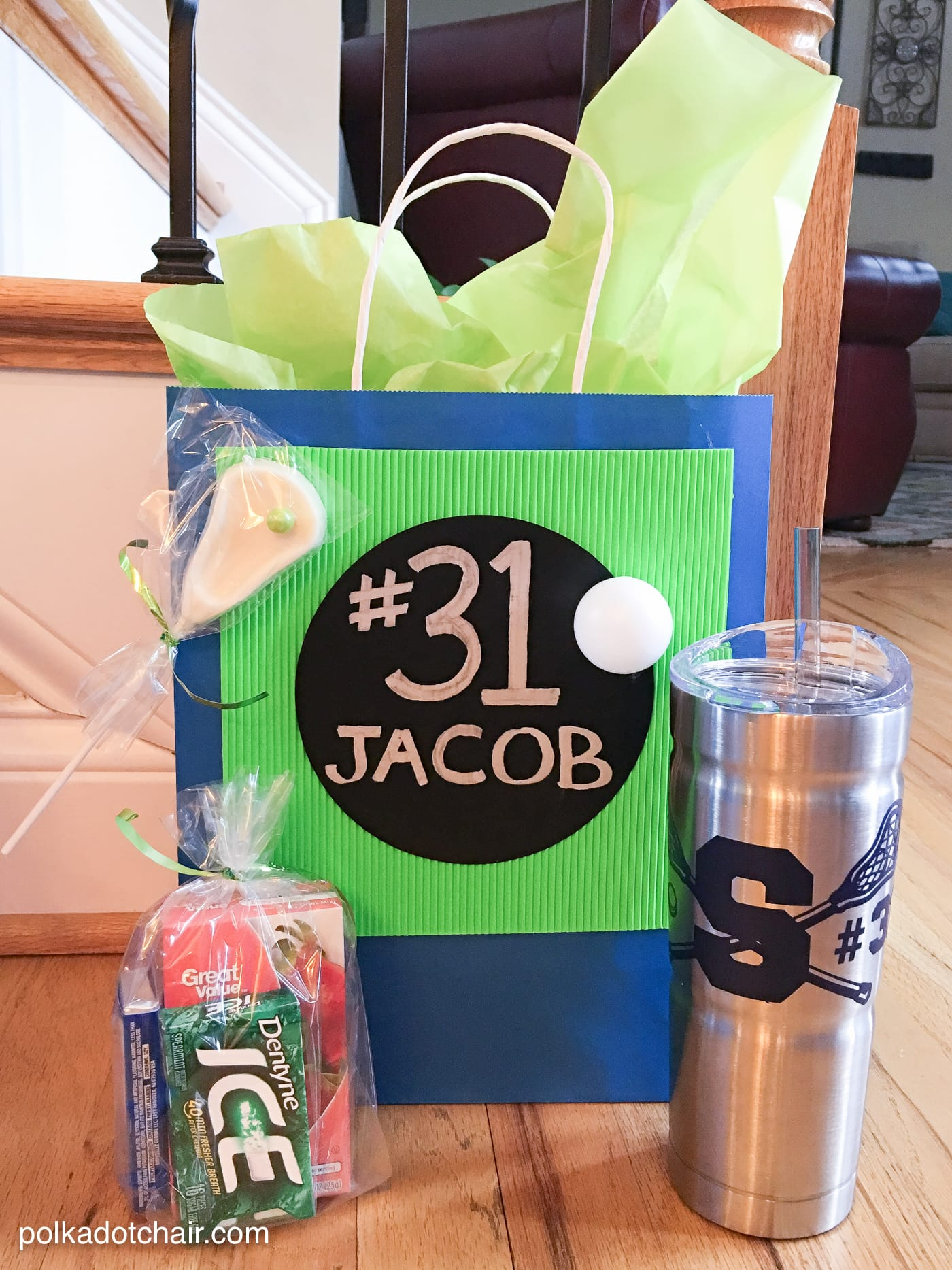Cute idea for lacrosse team gifts, monogrammed and personalized yeti tumblers... learn how to make them on this site..