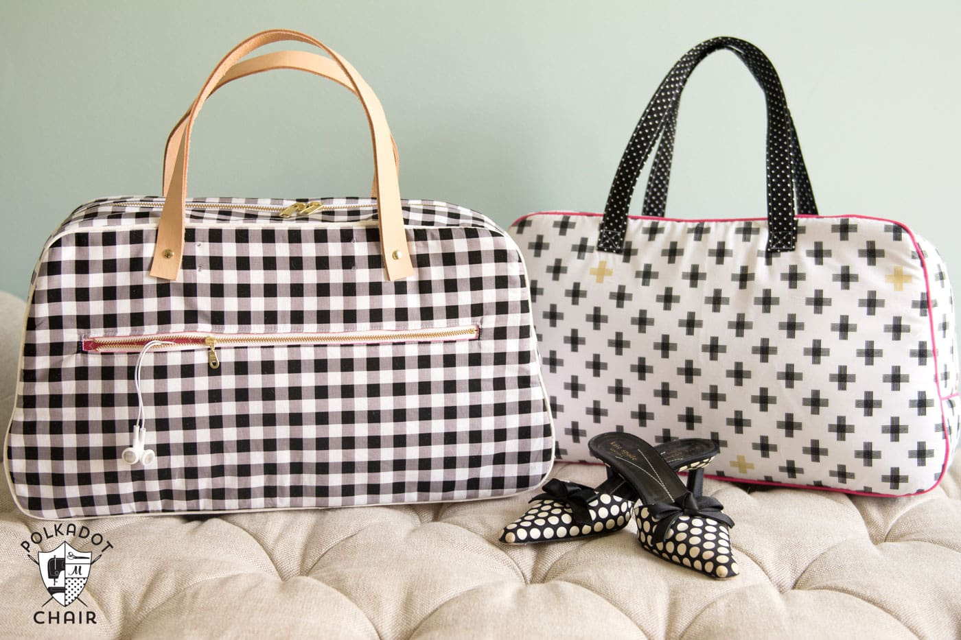Refreshed retro travel bag sewing pattern the polka dot chair retro travel bag sewing pattern by melissa mortenson makes a cute weekend bag and can jeuxipadfo Image collections