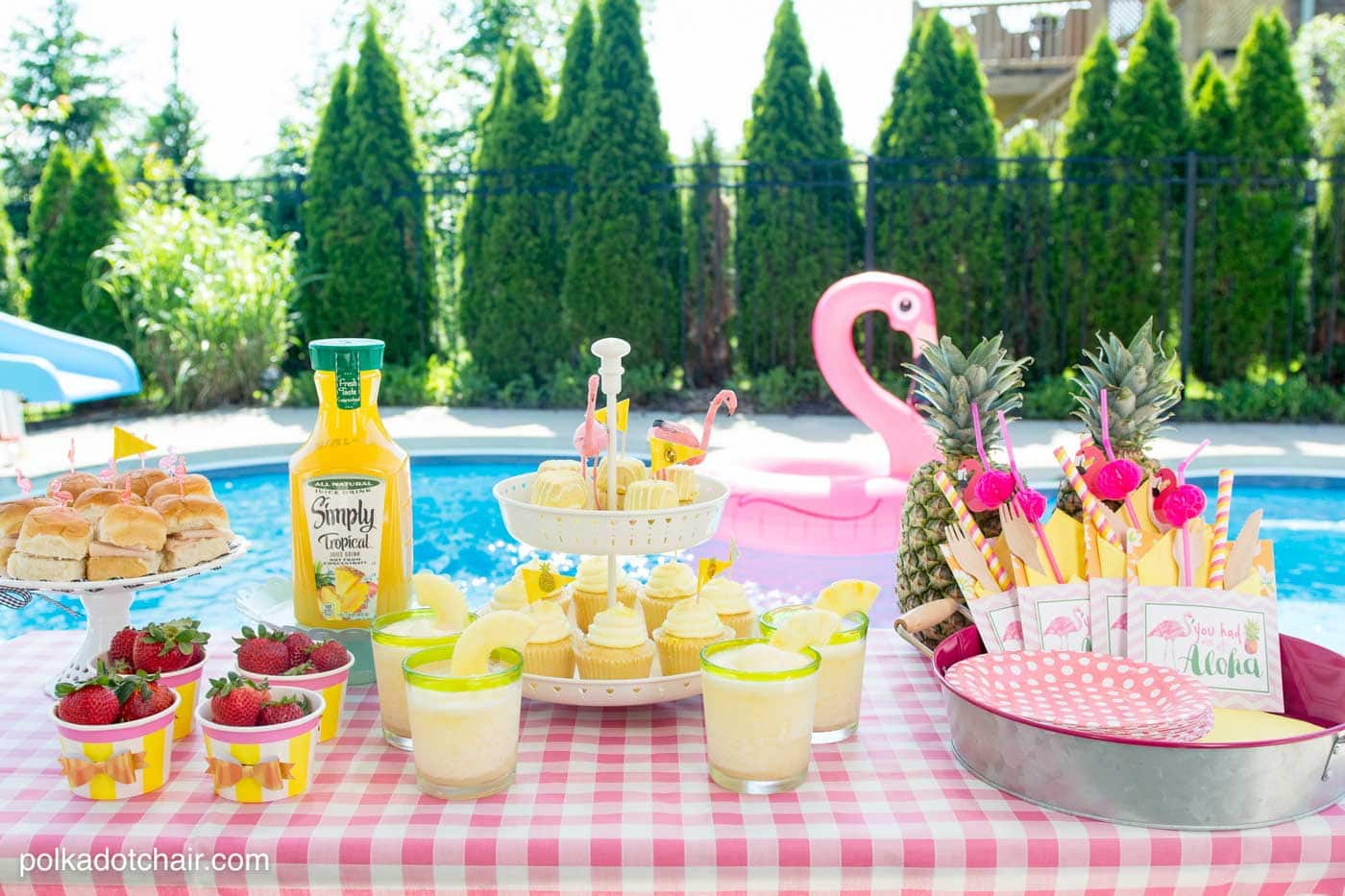 Lots Of Fun Ideas To Throw A Backyard Flamingo Themed Pool Party Including Free Printable