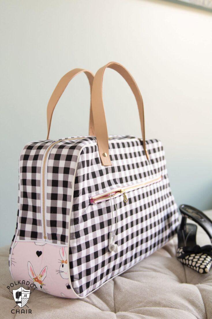 Retro Travel Bag Sewing Pattern | Digital PDF Pattern