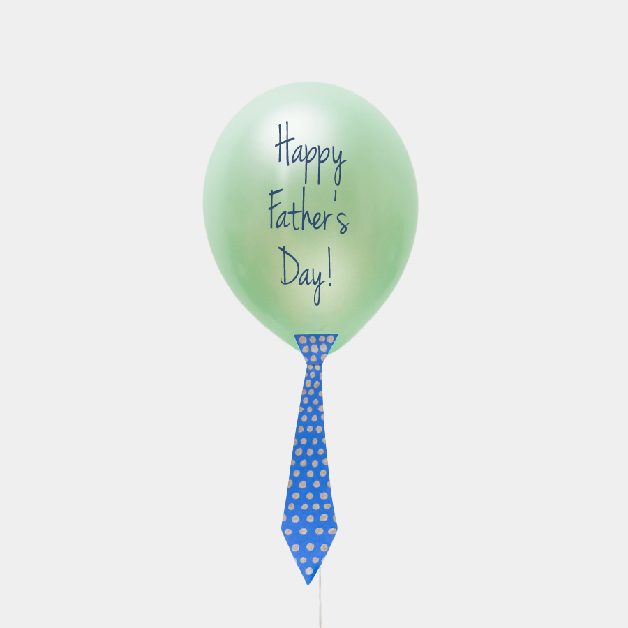"DIY Father's Day ""tie"" Balloon Craft Idea"