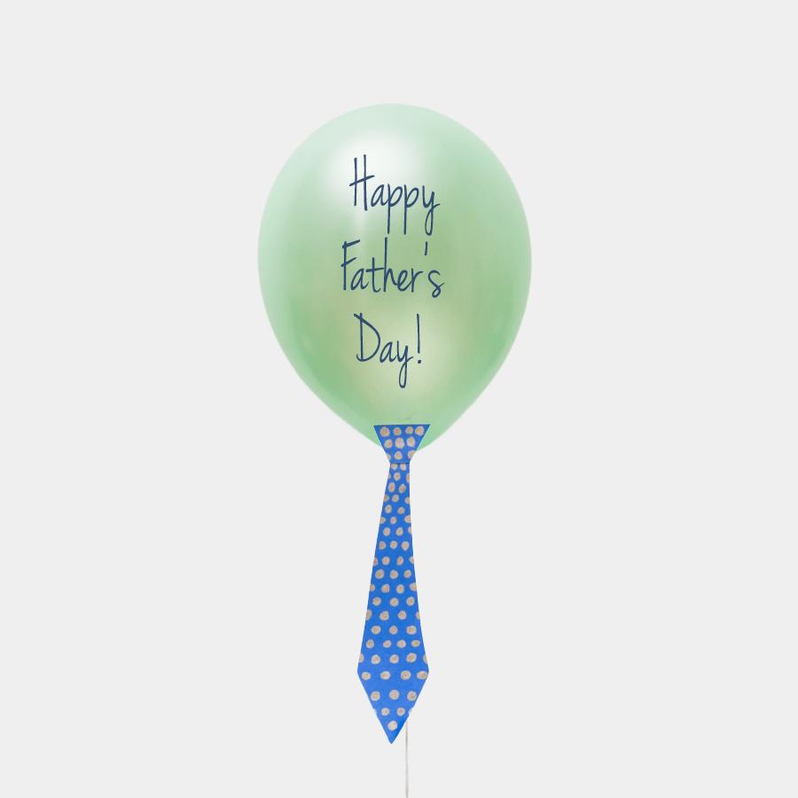 "DIY Father's Day ""tie"" Balloon Craft Idea"