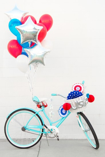 DIY 4th of July Bike Decorations