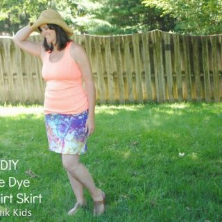 DIY Knit Tie Dyed Skirt
