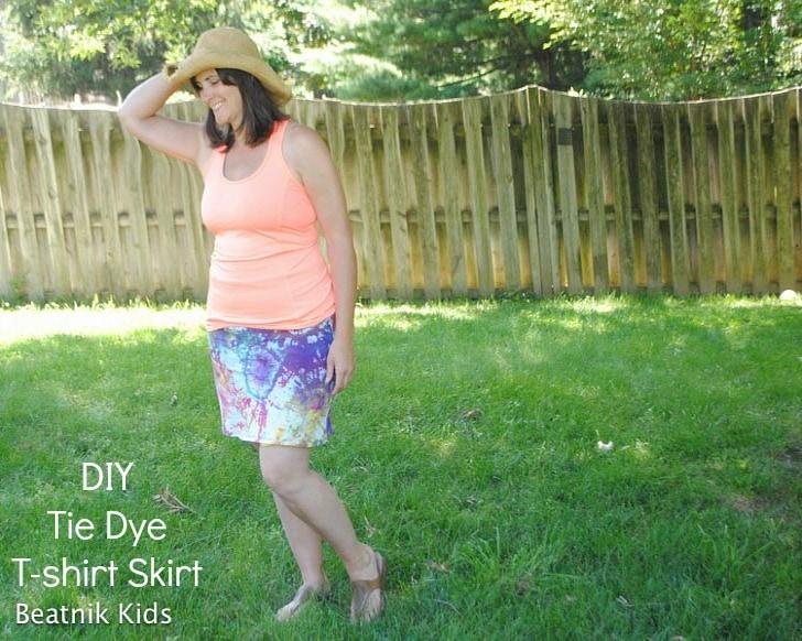 Three Dots Tie Dye Skirt 9