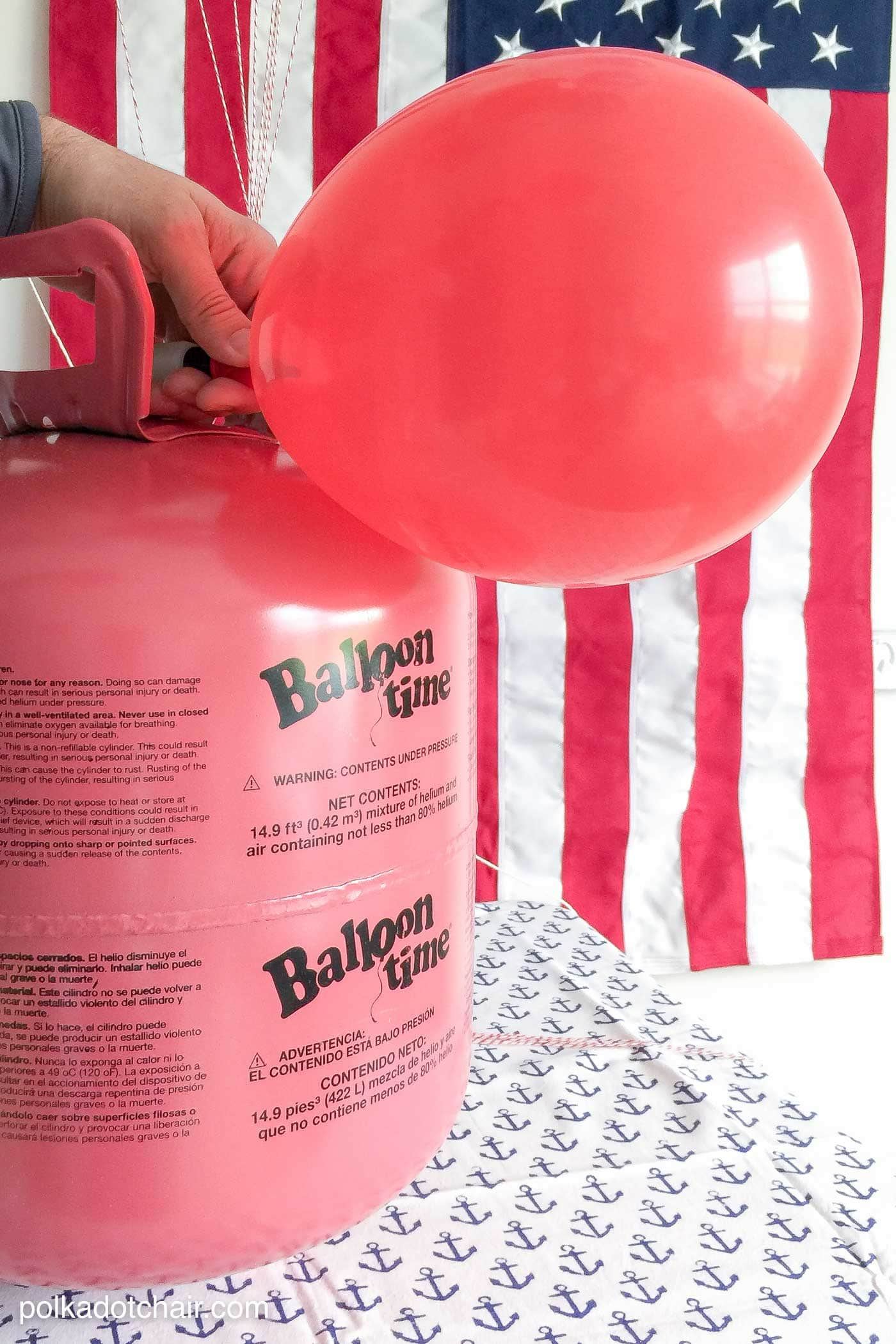 Glue Glitter Balloon And Rope Decoration