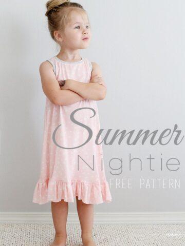 Summer Nightie Sewing Pattern -