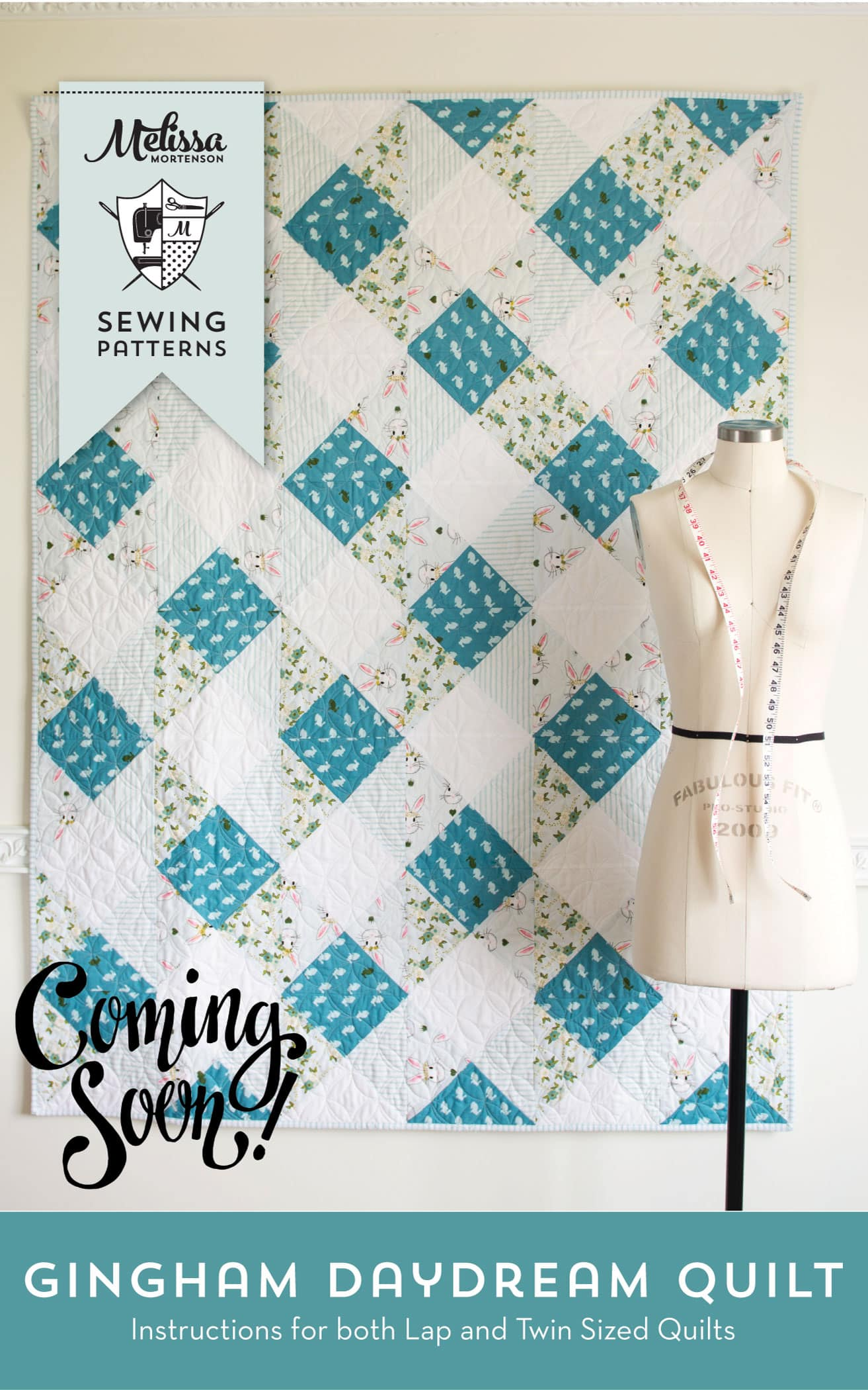 Printed Tote Bag and Quilt Sewing Patterns by Melissa Mortenson of polkadotchair.com