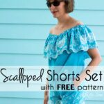 Scalloped Shorts Sewing Pattern