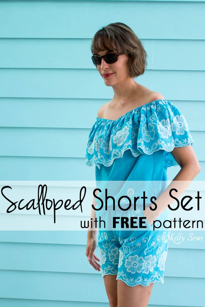 Free Scalloped Shorts Sewing Pattern from MellySews.com