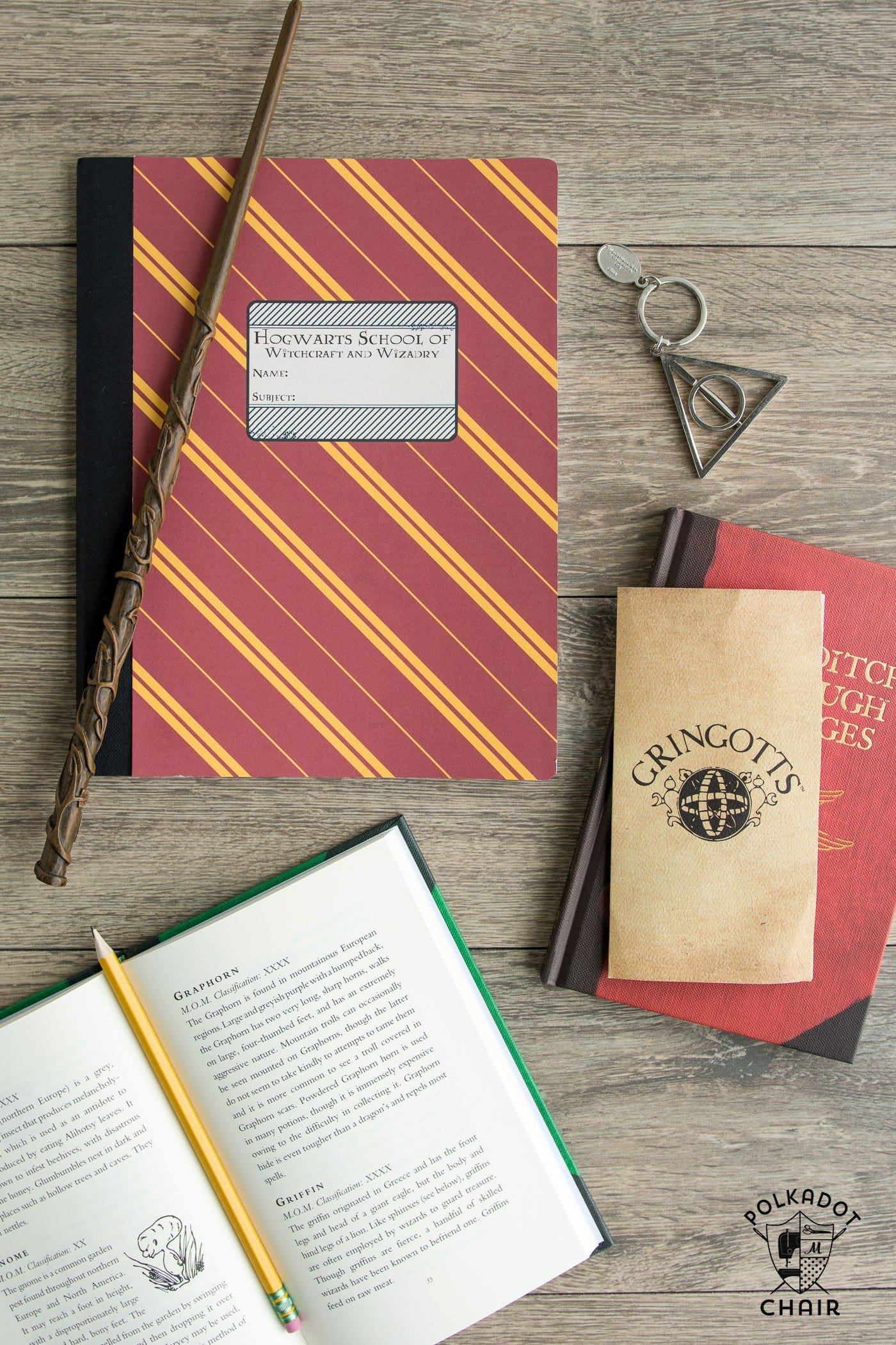 DIY Hogwarts Inspired House Notebooks; Harry Potter Craft ...