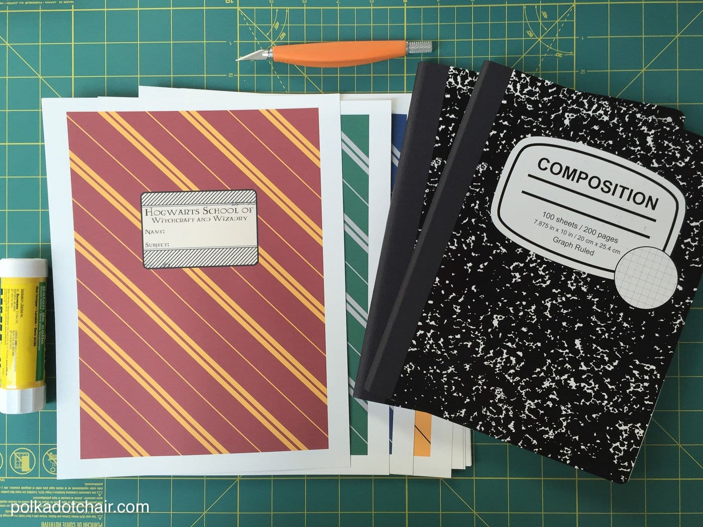 Harry Potter Book Cover Diy : Diy colorful dot notebook cover craftbnb