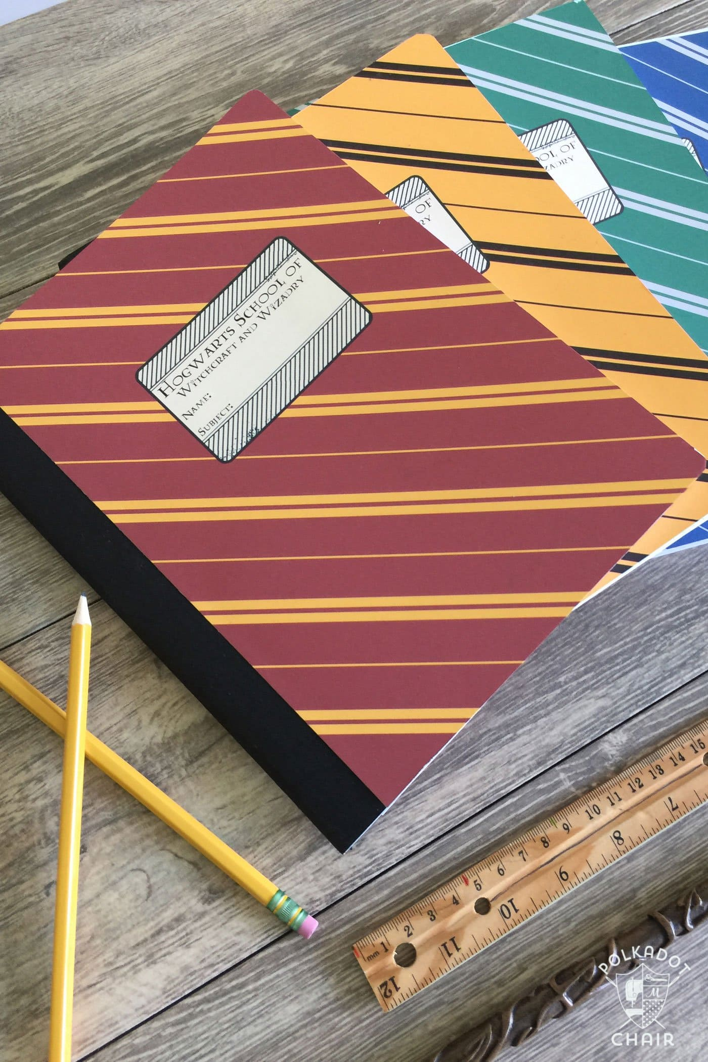 Harry Potter Book Cover Template : Diy hogwarts inspired house notebooks harry potter craft