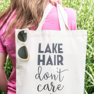 DIY Lake Hair Don 39 T Care Stenciled Summer Tote Bag With Free