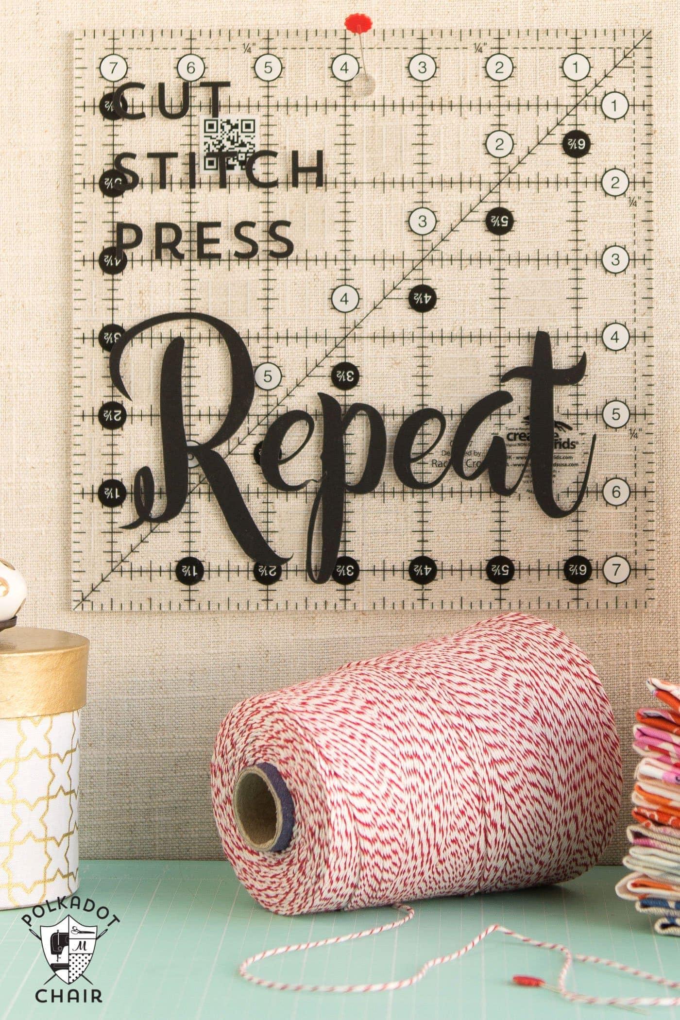 Diy sewing room decor ideas and free cricut cut files for Diy room decor 2016