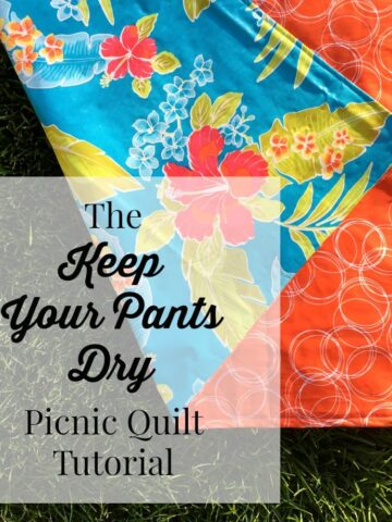 The Keep Your Pants Dry Waterproof picnic blanket tutorial by Simple Simon and Co.