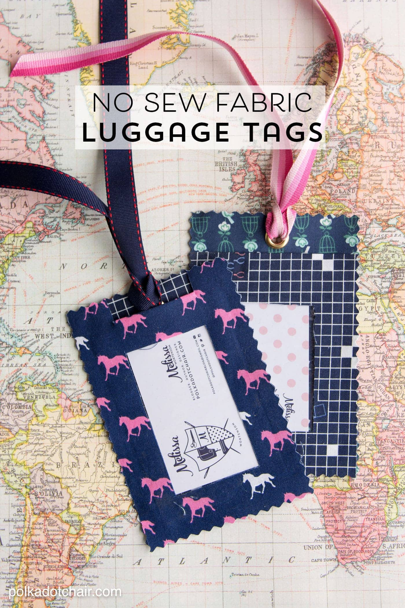3 Easy Diy Storage Ideas For Small Kitchen: DIY Fabric Luggage Tags - No Sew!