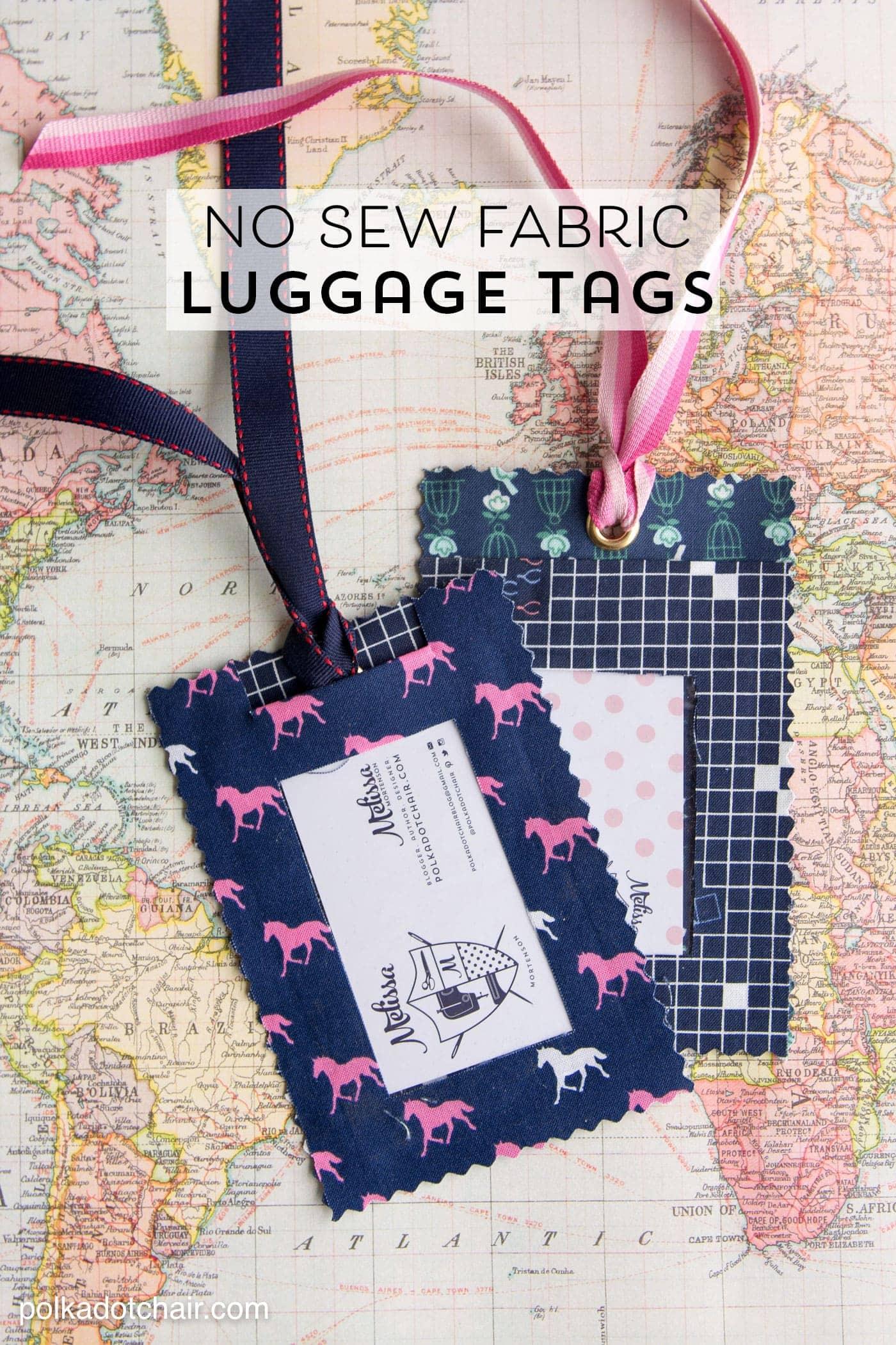 diy fabric luggage tags no sew the polka dot chair