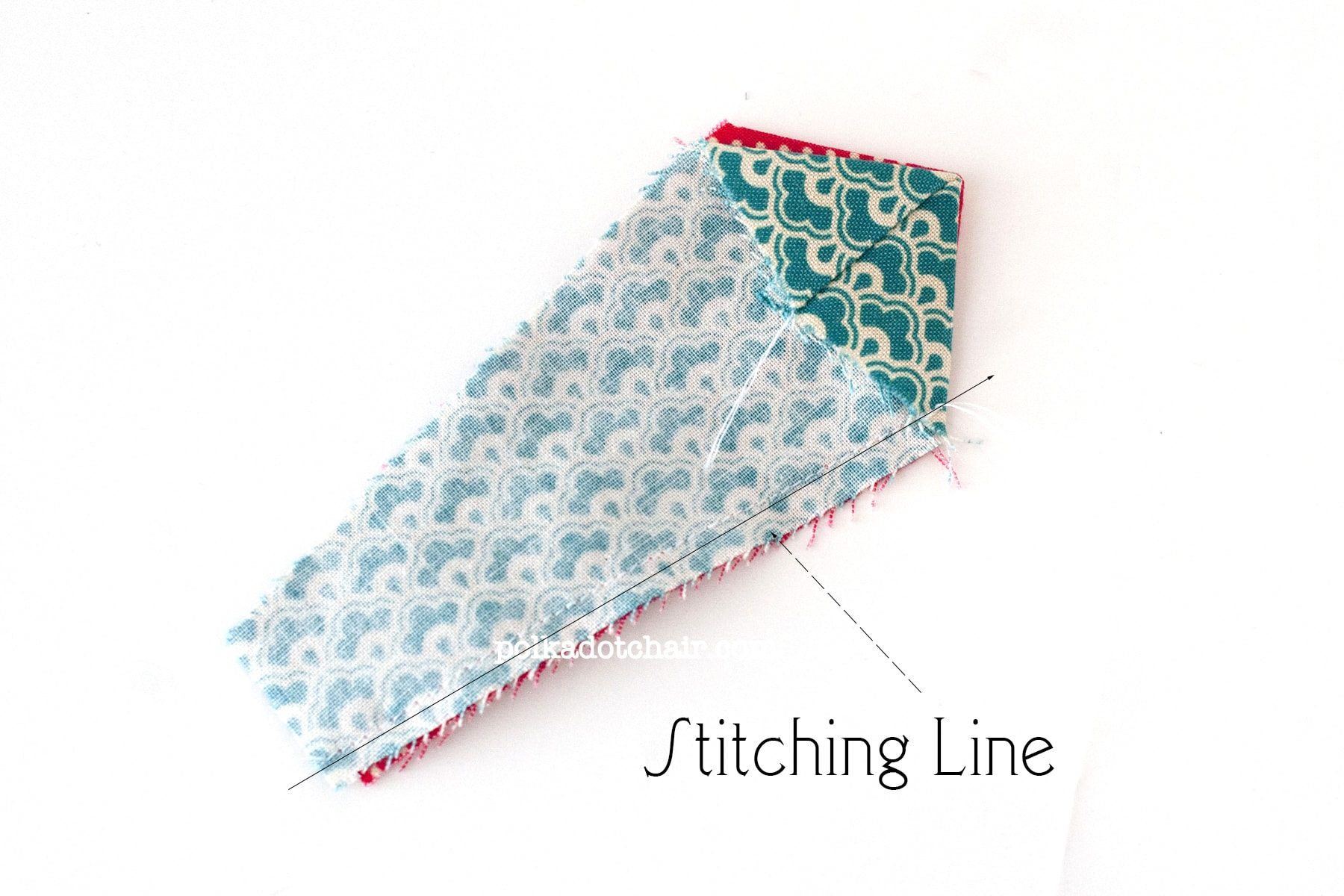 Free Tutorial for a Dresden Quilt Block; the August Block of the month featured on polkadotchair.com