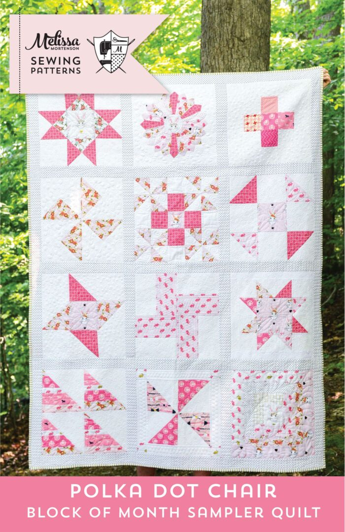 Quilt Block of the Month series on polkadotchair.com - create a quilt in 12 easy steps!