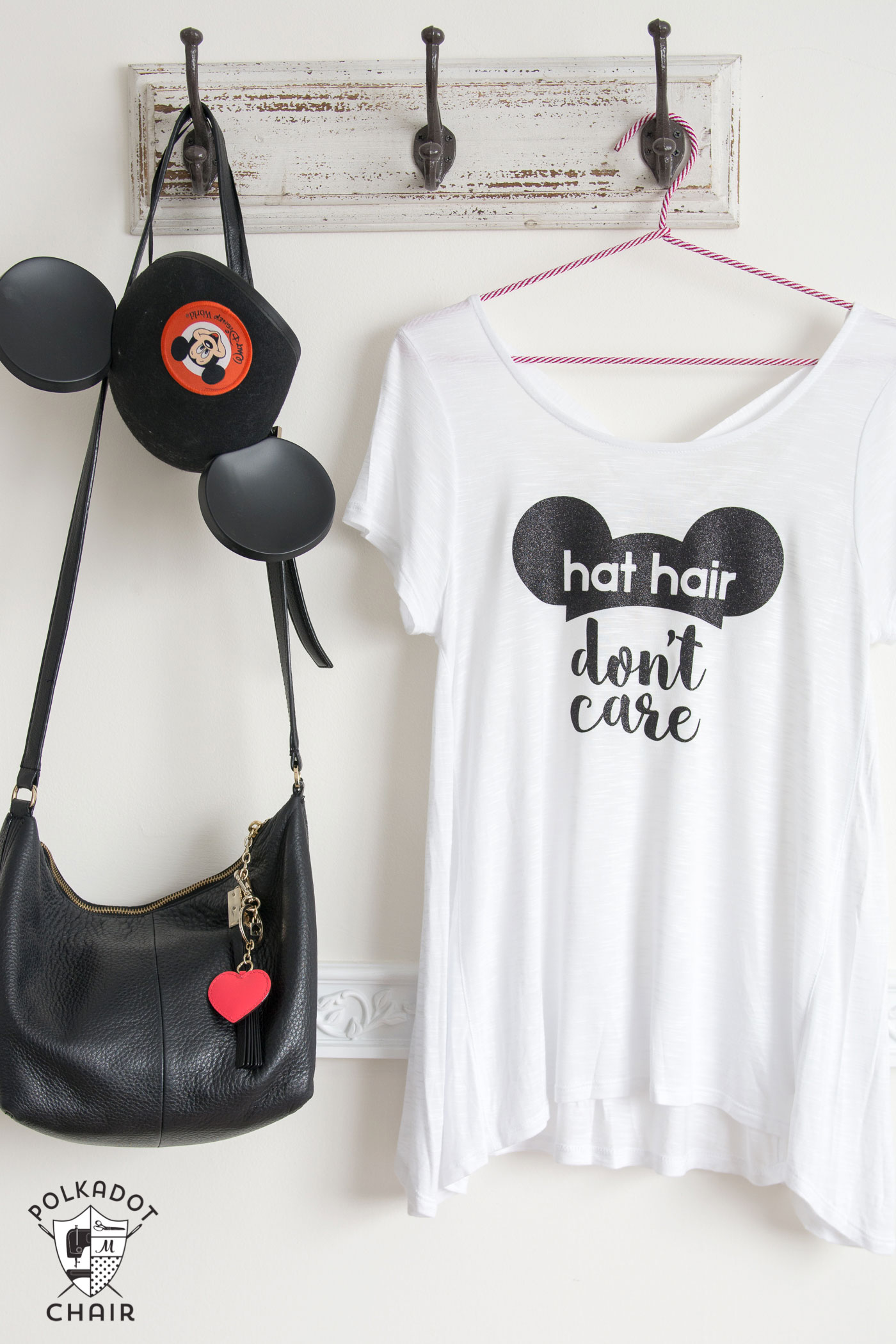 Diy Disney T Shirt Hat Hair Don T Care The Polka Dot Chair