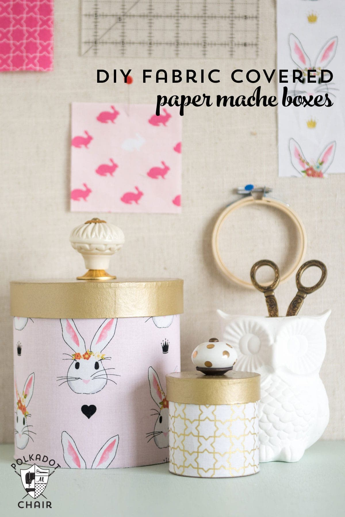 How To Cover Paper Mache Boxes With Fabric The Polka Dot Chair Ideas Hide Fuse Box