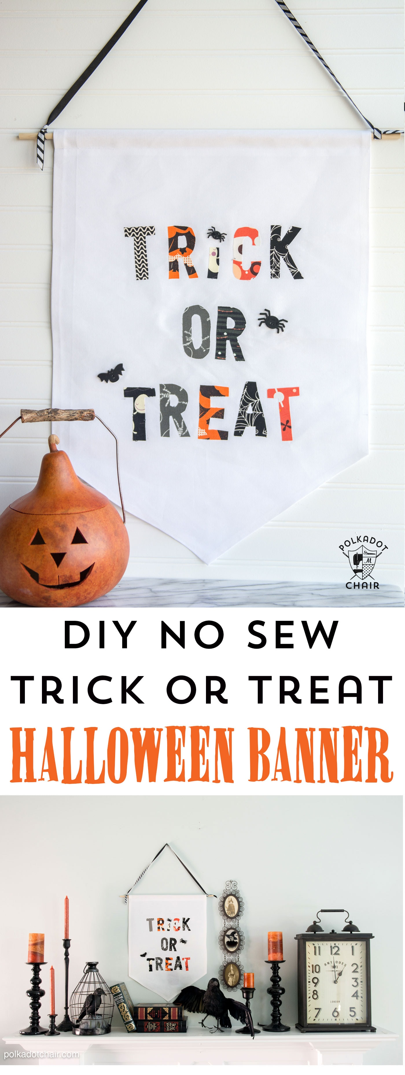 Diy Trick Or Treat Halloween Banner The Polka Dot Chair