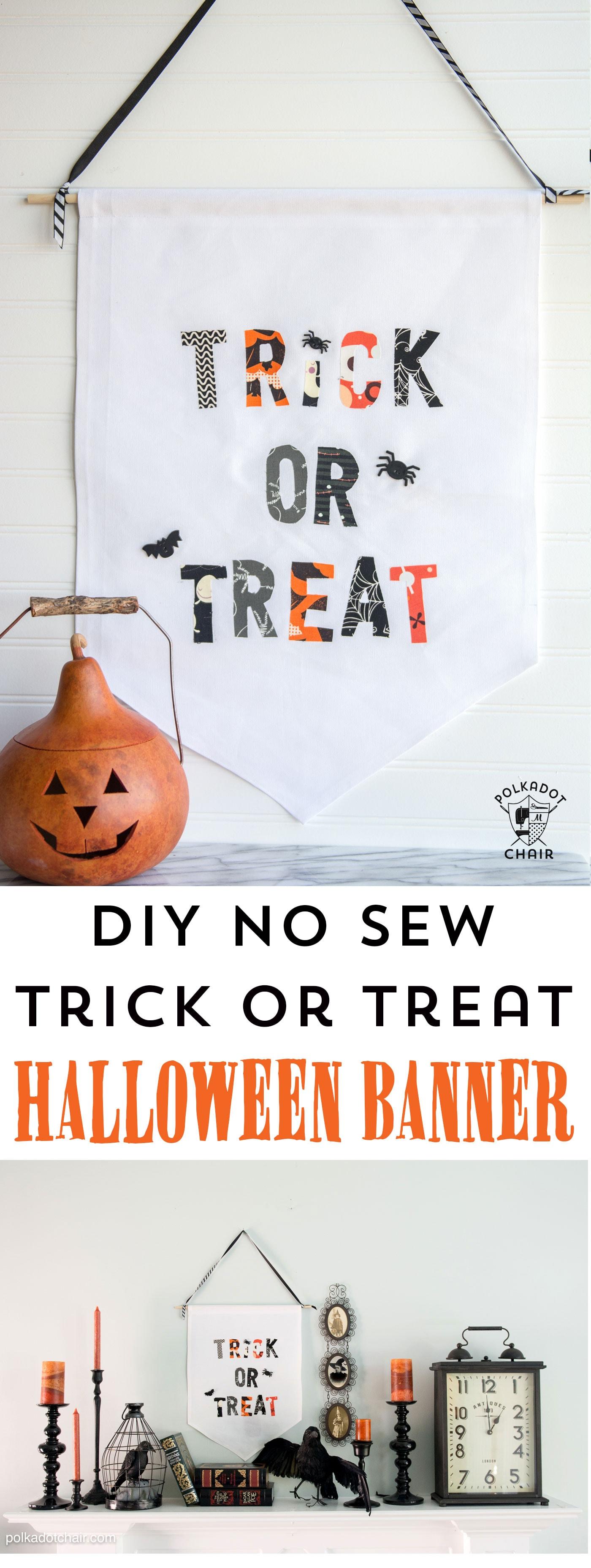 Diy Trick Or Treat Halloween Banner The Polka Dot Chair