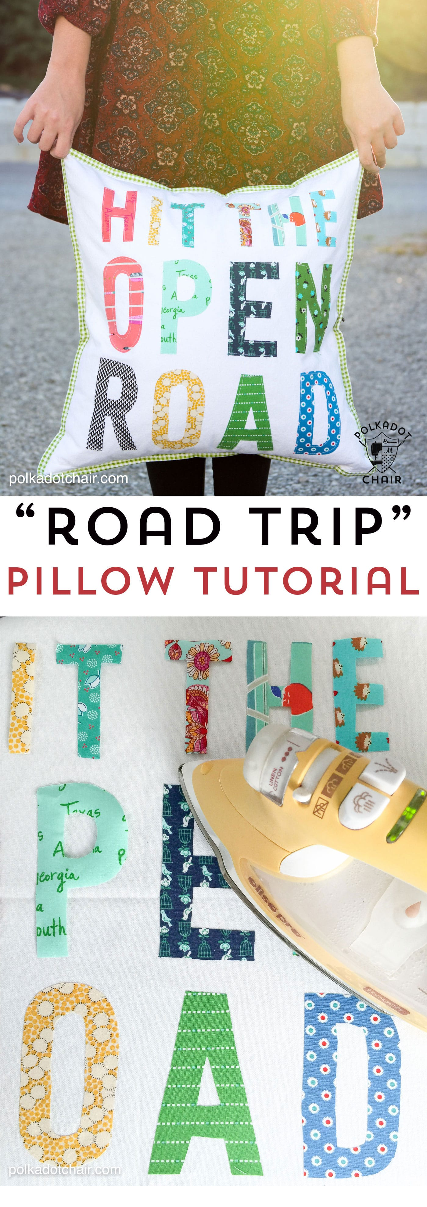 Diy Hit The Open Road Pillow Sewing Tutorial