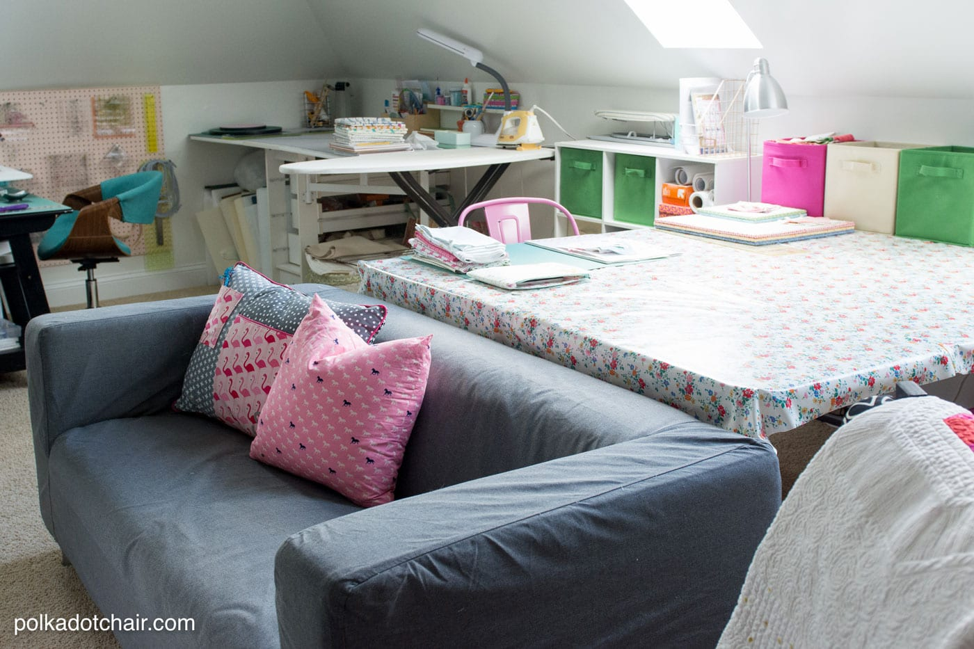 sewing and craft room ideas room makeover reveal sewing room ideas the polka dot chair 7122