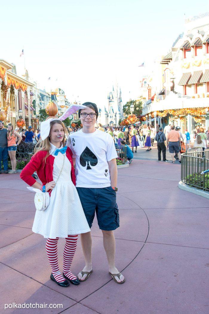 Cute ideas for No Sew Alice in Wonderland costumes, a cute last minute group costume idea