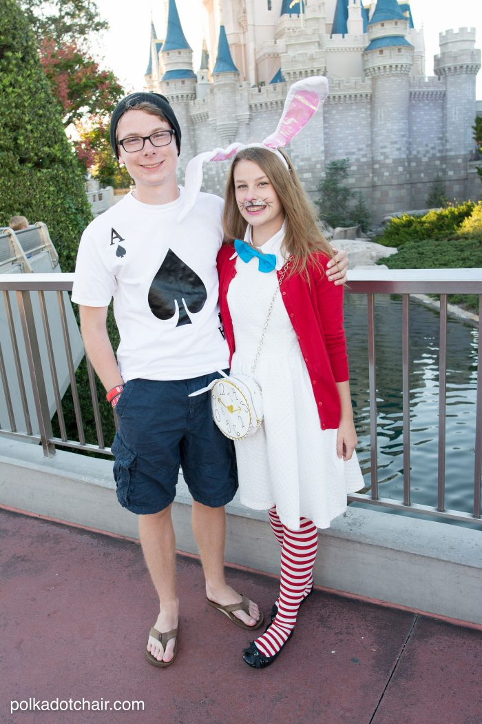 White Rabbit and Playing Card Alice in Wonderland Costume ideas