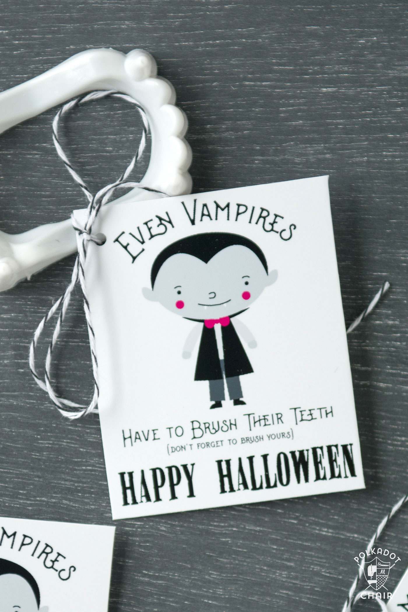 Cute Non Candy Halloween Treat Idea and Free Printable ...
