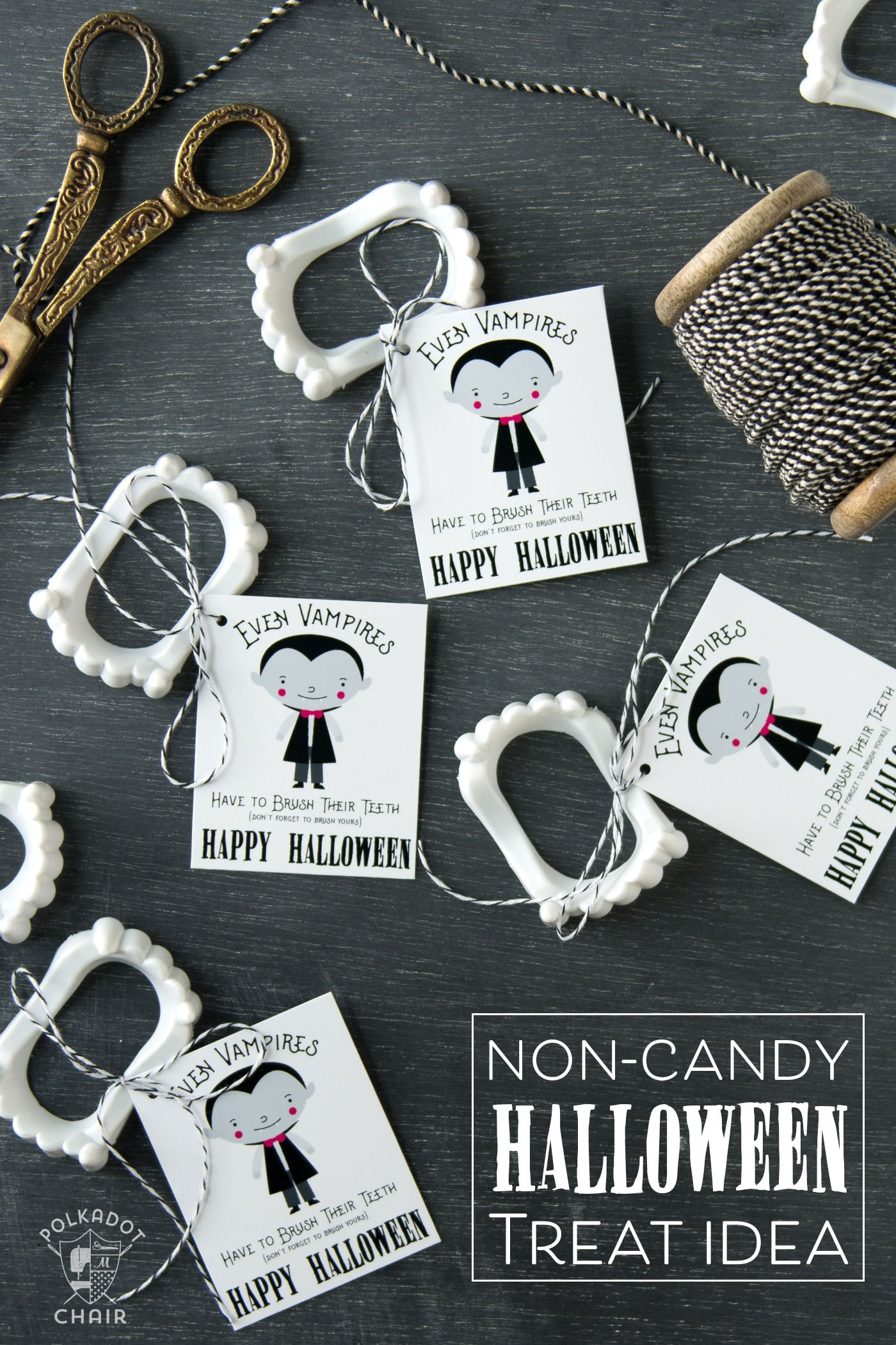 Cute Non Candy Halloween Treats and Free Printable